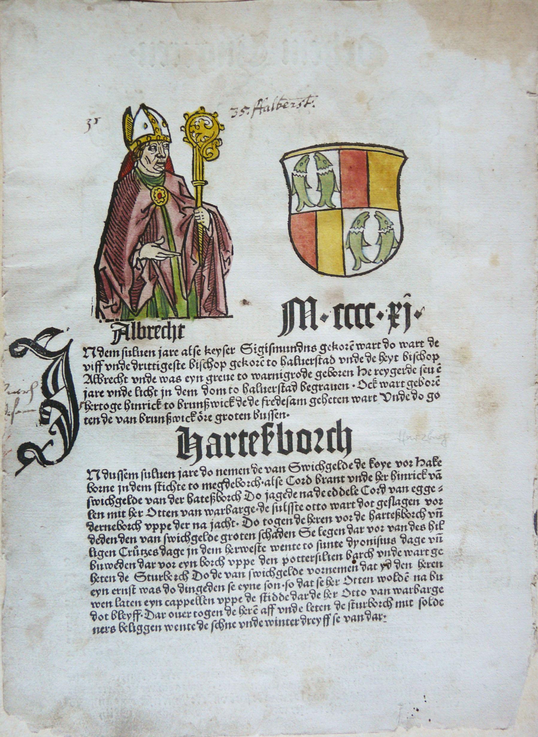 Schoffer P; Cronecken der Sassen