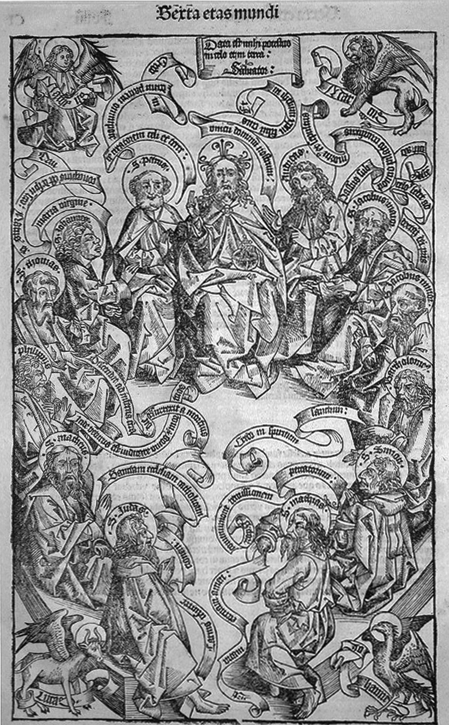 Wohlgemut; Cristo e gli Apostoli