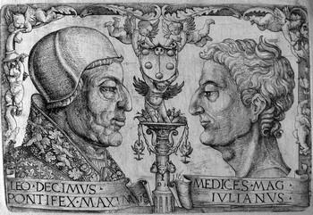 Hopfer D; Leo X e Giuliano de Medici - 350
