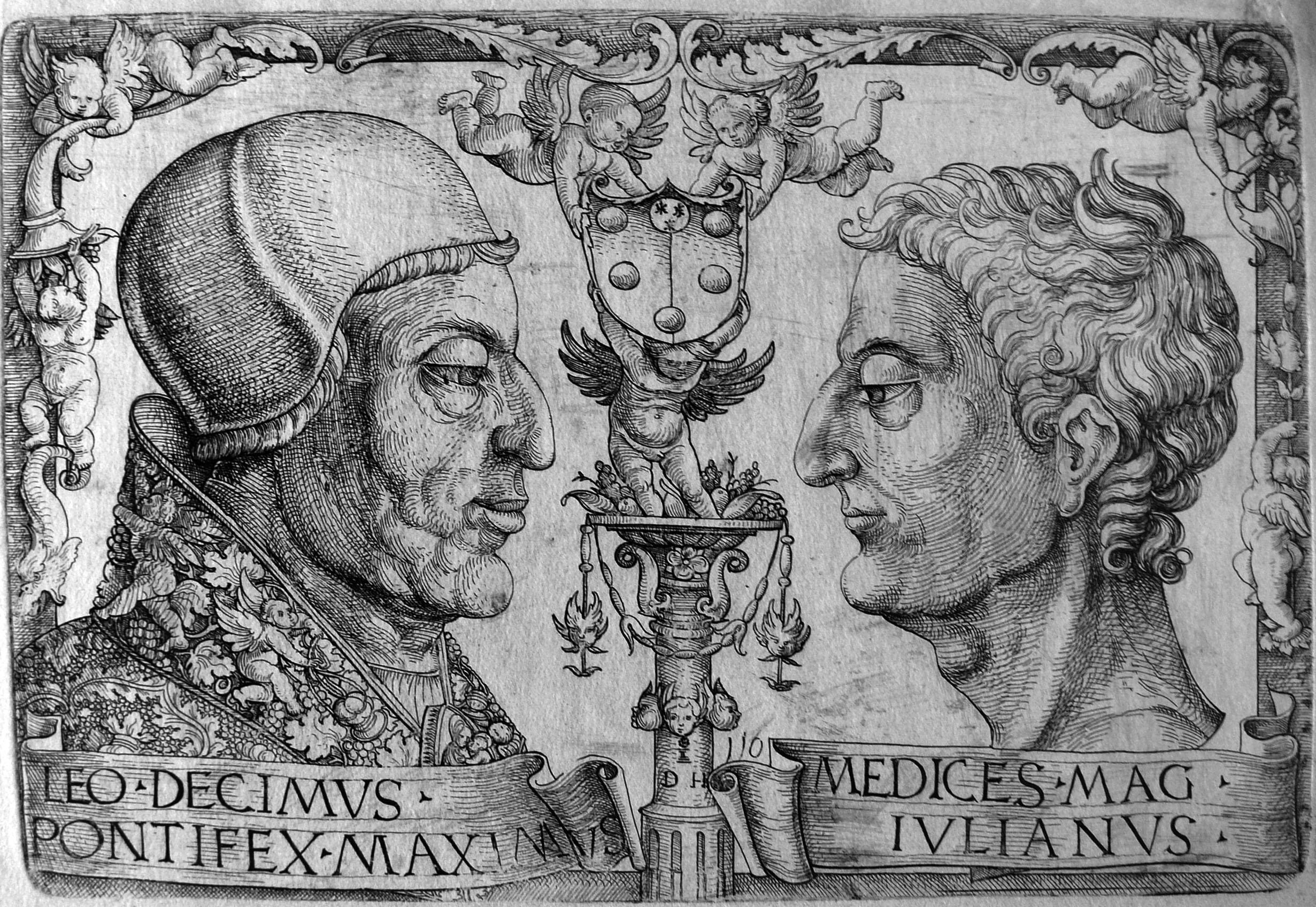 Hopfer D; Leo X e Giuliano de Medici