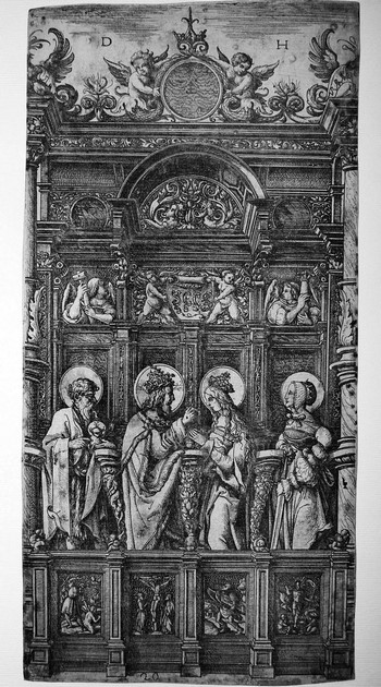 Hopfer D; Cristo benedice la Vergine - 350