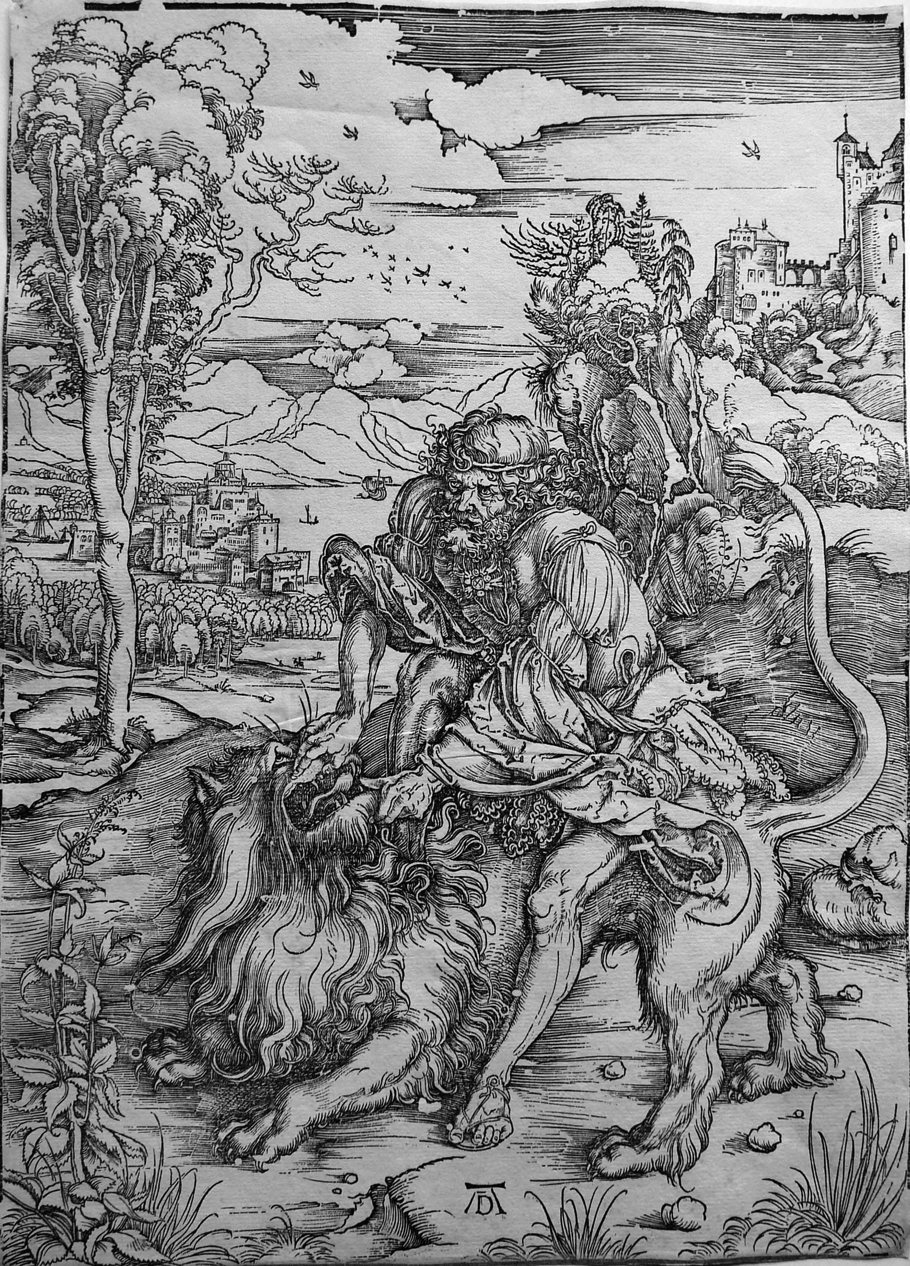 Durer A;  Sansone uccide il leone