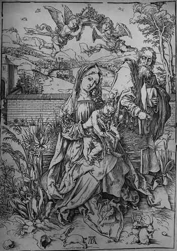 Durer A; Sacra Famiglia con le tre lepri - 350