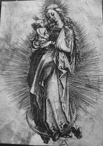 Durer A; La Madonna sulla mezzaluna - 350