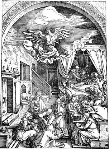 Durer A; La nascita della Vergine - 350