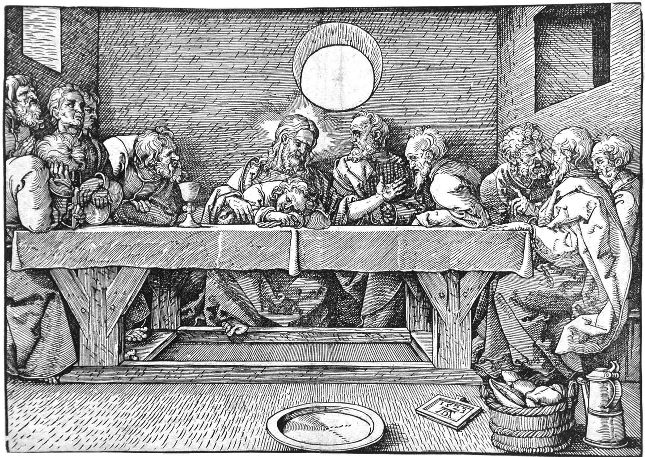 Scuola di A. Durer; Ultima cena