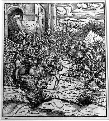 Burgkmair H;  La battaglia di Oudenaerde - 350