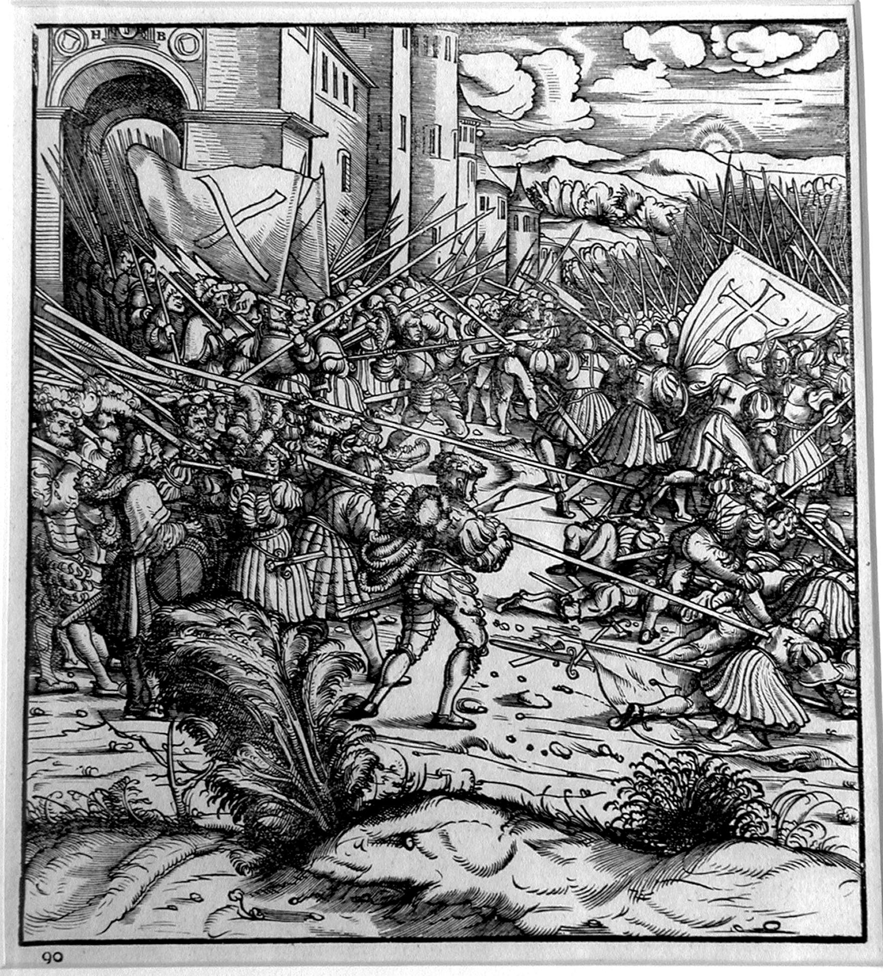 Burgkmair H;  La battaglia di Oudenaerde