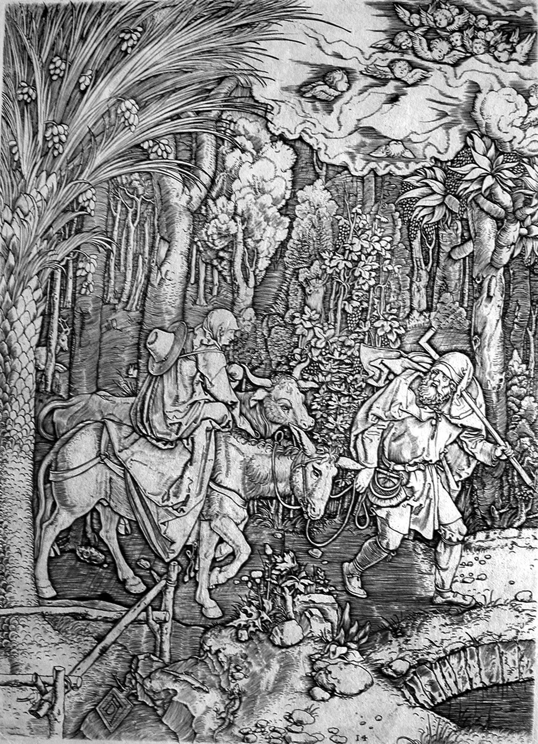 Fuga in Egitto (dalla Vita della Vergine di Dürer) - SG Collezione Stampe