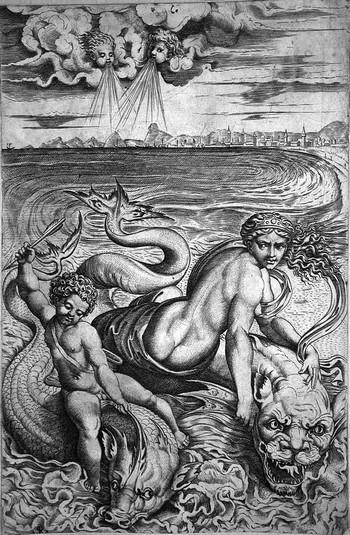Dente M; Venere e Amore sui delfini - 350