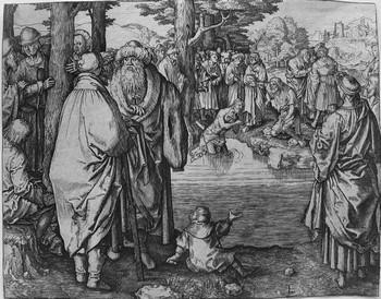 Van Leyden L;Battesimo di Gesù nel Giordano - 350