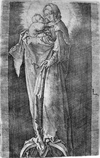 Van Leyden L; Madonna sulla mezzaluna - 350