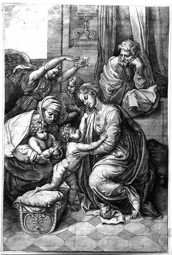Caraglio G; Sacra Famiglia di Francesco I - 350