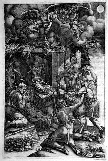 Ghisi G; L'adorazione dei pastori - 350