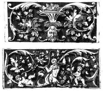 Vico E; Ornamento con mascherone - 350