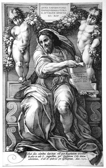 Goltzius H; Il profeta Isaia - 350