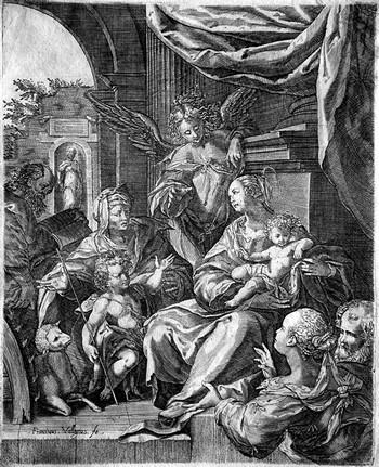 Valesio F; Sacra Famiglia e Santi - 350