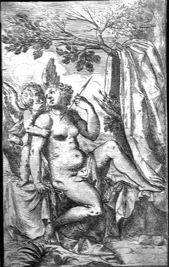 Fialetti O; Venere regge la freccia di Cupido - 350