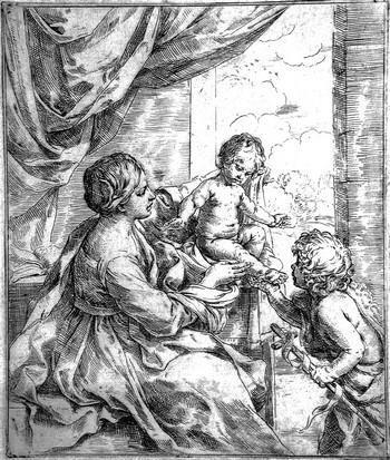 Reni G; Madonna col Bambino e S. Giovannino - 350