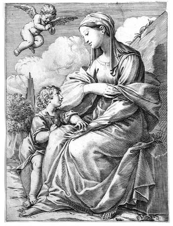 Valesio GL; La Vergine col Cristo Bambino - 350