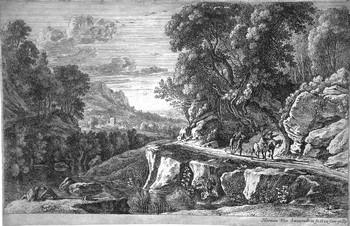 Van Swanevelt H; Paesaggio con cavalieri - 350