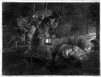 Rembrandt; L'adorazione dei pastori - 350