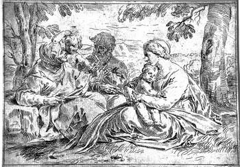 Cantarini S; Sacra Famiglia con S.Elisabetta e S. Giovannino - 350