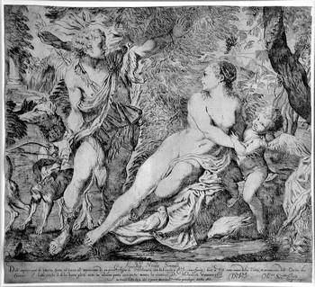 Scaramuccia L; Venere con Amore e Adone - 350
