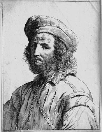 Bonaveri DM; Busto d'uomo con cappello e catena - 350