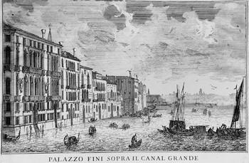 Carlevarijs L; Plazzo Fini sopra Canal Grande - 350