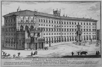 Specchi A; Altra veduta di Palazzo Borghese - 350