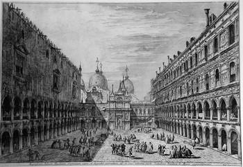 Marieschi M; Cortile interno del Palazzo Ducale - 350
