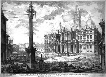 Piranesi GB; Veduta della basilica di S.ta Maria Maggiore - 350