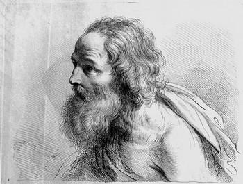 Bartolozzi F; Busto di vecchio girato a sinistra - 350