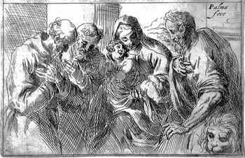 Negretti J; Sacra Famiglia e Santi - 350