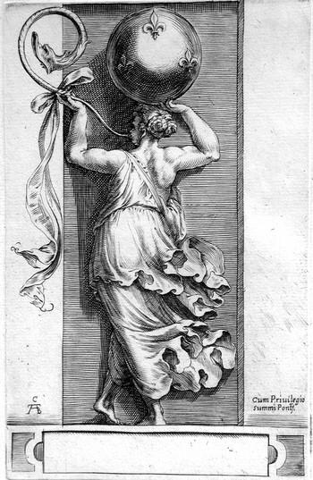 Alberti C; Donna che suona una tromba - 350