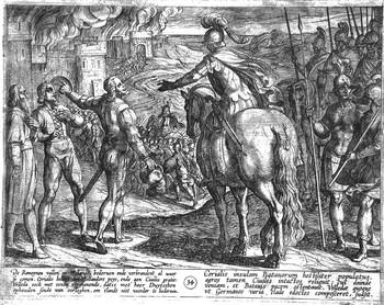 Tempesta A; Romani bruciano la campagna tedesca - 350