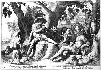Scuola di Goltzius; Mercurio e Argo - 350