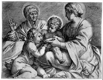 Carracci Ann; La Madonna della scodella - 350