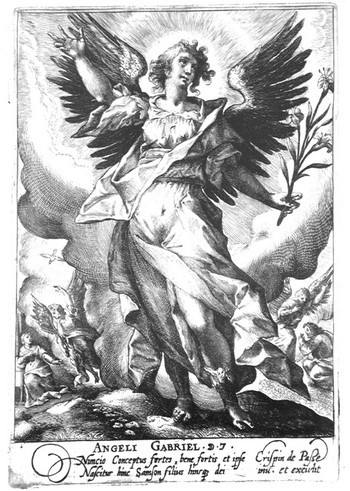 van de Passe C; L'angelo Gabriele - 350