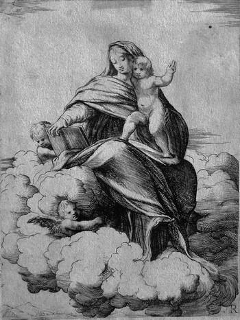 Schiaminossi R;Madonna col Bambino sulle nuvole - 350