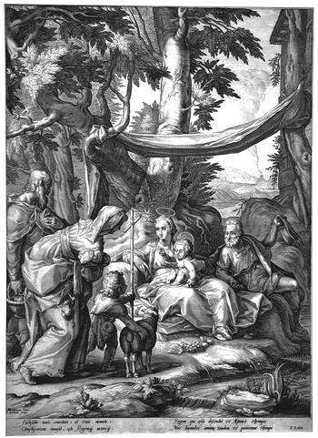 Matham J; Sacra Famiglia e Santi - 350