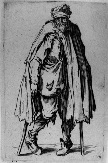 Callot J; Mendicante con stampelle - 350