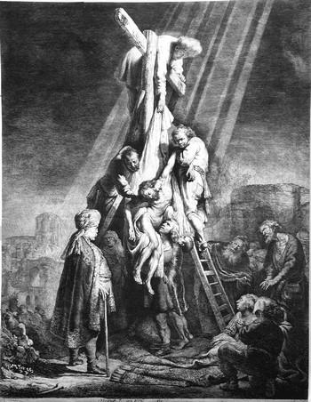 Rembrandt; La deposizione di Cristo dalla croce - 350