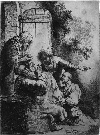 Rembrandt; Giacobbe piange la morte di Giuseppe - 350