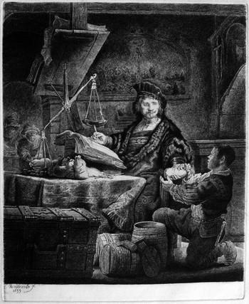 Rembrandt; Jan Uytenbogaert (il pesatore d'oro) - 350