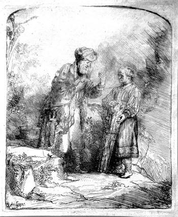 Rembrandt; Abramo e Isacco - 350