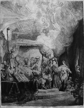 Rembrandt; La morte della Vergine - 350