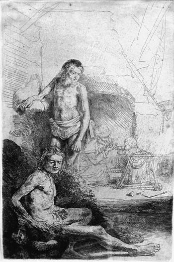Rembrandt; Due nudi maschili - 350