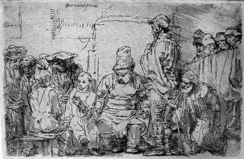 Rembrandt; Gesù discute con i Dottori della legge - 350
